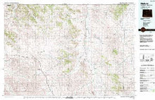 USGS 30' x 60' Metric Topographic Map of Recluse, WY Quadrangle