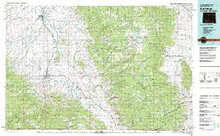USGS 30' x 60' Metric Topographic Map of Saratoga, WY Quadrangle