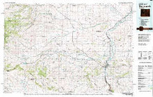 USGS 30' x 60' Metric Topographic Map of Thermopolis, WY Quadrangle
