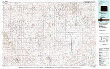 USGS 30' x 60' Metric Topographic Map of Bill, WY Quadrangle