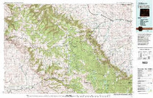 USGS 30' x 60' Metric Topographic Map of Burgess Junction, WY Quadrangle