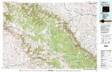 USGS 30' x 60' Metric Topographic Map of Burgess Junction, WY Quadrangle