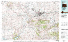 USGS 30' x 60' Metric Topographic Map of Casper, WY Quadrangle