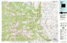 USGS 30' x 60' Metric Topographic Map of Cody, WY Quadrangle
