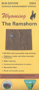 BLM 30' x 60' Surface Management Map of The Ramshorn, WY Quadrangle