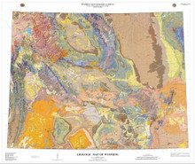 Geologic Map of Wyoming (2014)