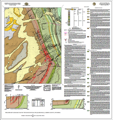 Preliminary Geologic Map of the Rawlins Peak SW Quadrangle Carbon