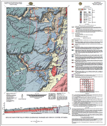 Geologic Map of the Tallon Spring Quadrangle, Washakie and Johnson Counties, Wyoming.