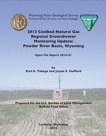 2013 Coalbed Natural Gas Regional Groundwater Monitoring Update: Powder River Basin, Wyoming