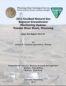 2012 Coalbed Natural Gas Regional Groundwater Monitoring Update: Powder River Basin, Wyoming
