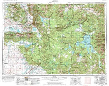 USGS 1° x 2° Area Map Sheet of Ashton, ID Quadrangle