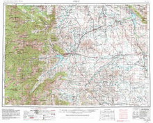 USGS 1° x 2° Area Map Sheet of Cody, WY Quadrangle