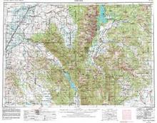 USGS 1° x 2° Area Map Sheet of Driggs, ID Quadrangle
