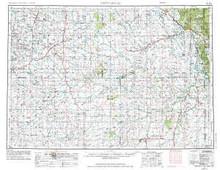 USGS 1° x 2° Area Map Sheet of Newcastle, WY Quadrangle