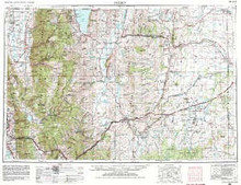 USGS 1° x 2° Area Map Sheet of Ogden, UT Quadrangle