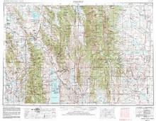 USGS 1° x 2° Area Map Sheet of Preston, ID Quadrangle