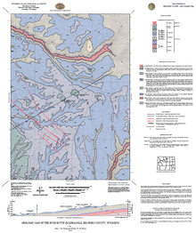 Geologic Map of the Bush Butte Quadrangle, Big Horn County, Wyoming (2013)