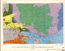 Geologic and structure map of the southern part of the Powder River basin, Converse, Niobrara, and Natrona counties, Wyoming