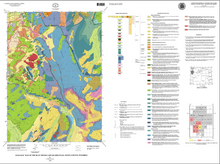 Geologic Map of the Blue Miner Lake Quadrangle, Teton County, Wyoming