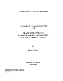 Draft Directory of Earthquake-related Human Resources for Wyoming