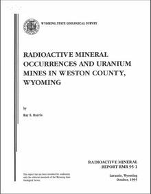 Radioactive Mineral Occurrences and Uranium Mines in Weston County, Wyoming