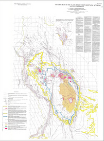 Tectonic Map of the Black Hills Uplift, Montana, Wyoming and South Dakota (1985)
