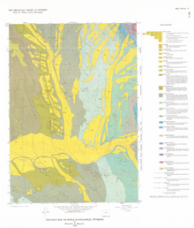 Geologic Map of Shell Quadrangle, Wyoming (1985)
