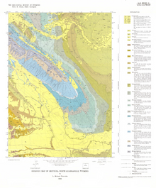 Geologic Map of Greybull North Quadrangle, Wyoming (1986)