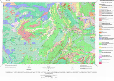 Preliminary Surficial Geologic Map of the Rawlins 30 x 60 Minute