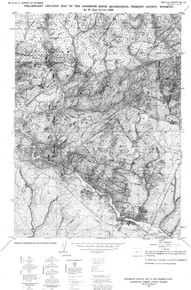 Preliminary Geologic Map of the Anderson Ridge Quadrangle, Fremont County, Wyoming