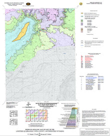 Bedrock Geologic Map of the Lonetree Quadrangle, Uinta County, Southwestern Wyoming