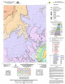 Bedrock Geologic Map of the Reed Reservoir Quadrangle, Uinta County, Southwestern Wyoming (2007)