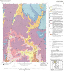 Geologic Map of the Beartrap Meadows Quadrangle, Johnson County, Wyoming