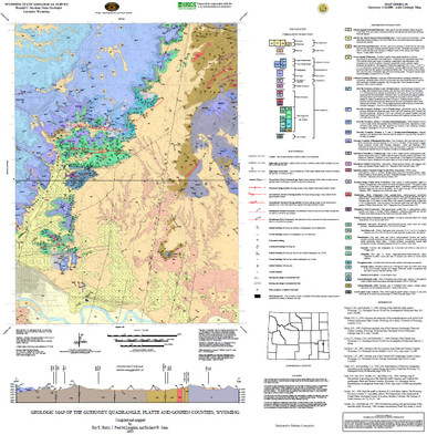 Geologic Map of the Guernsey Quadrangle Platte and Goshen Counties