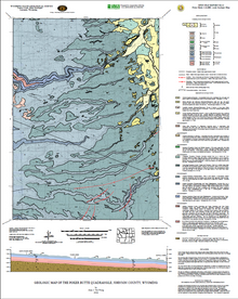 Geologic Map of the Poker Butte Quadrangle, Johnson County, Wyoming