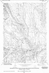 Preliminary Geologic Map of the Red Fork Powder River Quadrangle, Johnson County, Wyoming (1987)