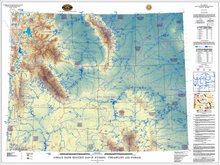 Surface Water Resource Map of Wyoming: Streamflows and Storage
