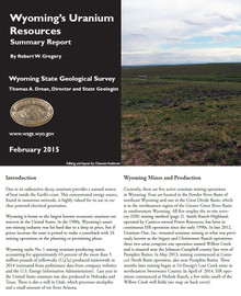 Wyoming's Uranium Resources: Summary Report (2015)