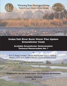 Snake/Salt River Basin Water Plan Update, Groundwater Study, Level I (2011–2014): Available Groundwater Determination (2014)