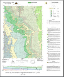 Geologic Map of the Hole in the Wall Quadrangle, Johnson County, Wyoming