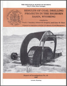Results of Coal Drilling Projects in the Bighorn Basin, Wyoming