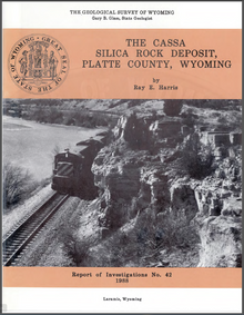 Cassa Silica Rock Deposit, Platte County, Wyoming (1988)