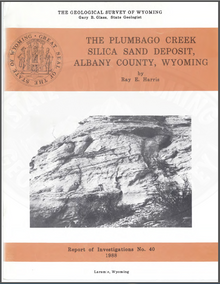 Plumbago Creek Silica Sand Deposit, Albany County, Wyoming (1988)