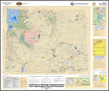 Land Areas of Wyoming Designated Unique and Irreplaceable or Rare and Uncommon (2009)