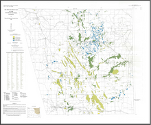 Oil and Gas Fields Map of the Powder River Basin, Wyoming (1990)