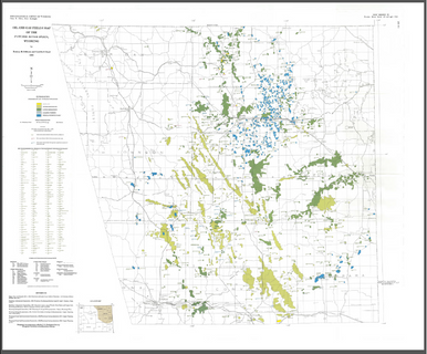 Oil and gas fields map of the powder river basin wyoming 1990 image 1 gumiabroncs Choice Image