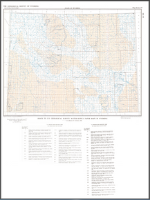 Index to U.S. Geological Survey Water Supply Paper Maps in Wyoming (1983)