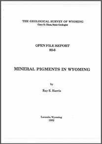 Mineral Pigments in Wyoming (1992)