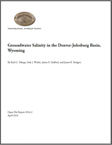 Groundwater Salinity in the Denver-Julesburg Basin, Wyoming