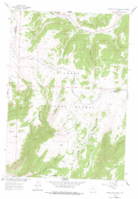 7.5' Topo Map of the Hidden Teepee Creek, WY Quadrangle